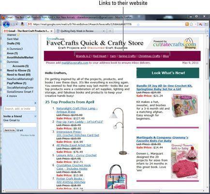 Este boletim FaveCrafts inclui links para seu site. [Cortesia do FaveCrafts.com, CutRate