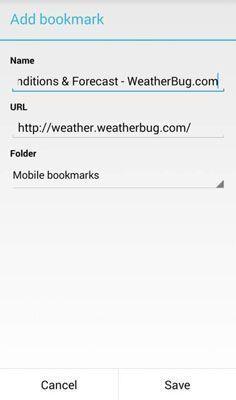 Pop-up tela que permite que você adicione um novo marcador no Chrome.