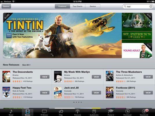 Você pode passar horas assistindo filmes no iPad.