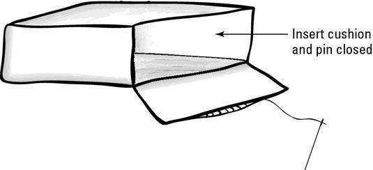 Um slipcover almofada reversível completa.