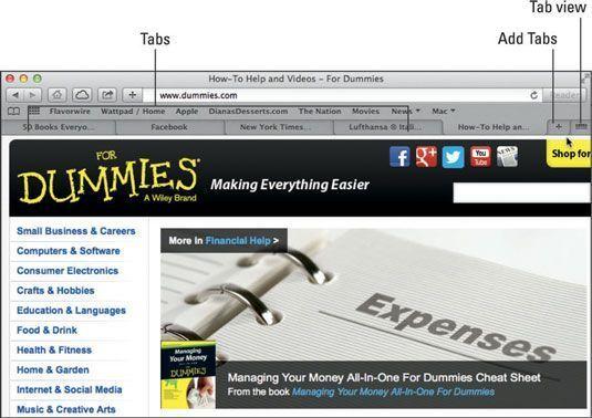 navegação por abas permite que você lidar com várias páginas da web dentro de uma única janela.
