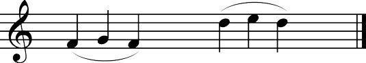 insultos três notas.