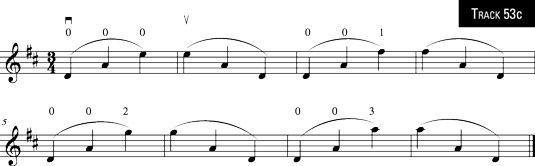insultos três notas em todo cordas.