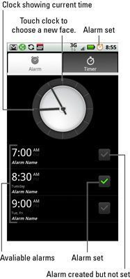 O alarme & amp; Temporizador App.