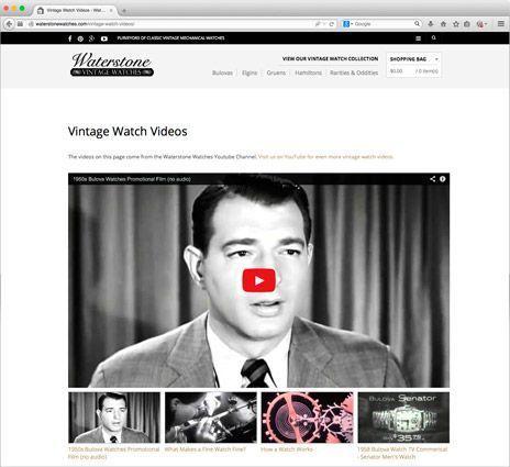 A incorporação de um vídeo do YouTube.