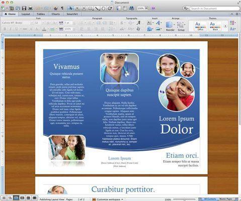 Um documento aberto no Word para Mac.