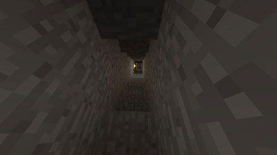 Descendo uma escada em uma mina