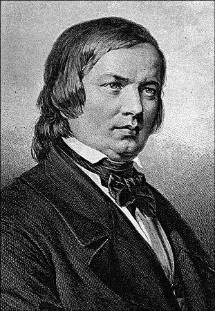"""Robert Schumann, um dos compositores românticos alemães mais importantes. [& Lt; i & gt; Fonte: criativa comum""""width ="""" 311"""