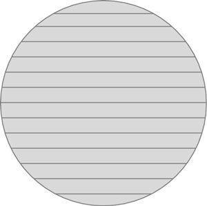 Cortar um log através de e resulta em uma variedade de placas.