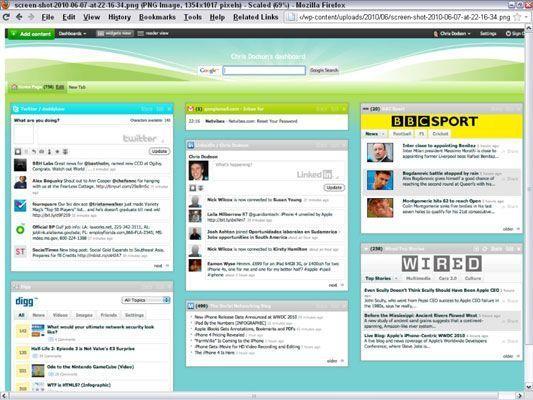 Um painel NetVibes personalizado ajuda você a gerenciar uma campanha de mídia social. [Cortesia de Chri