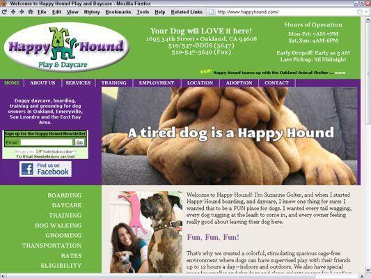 O Cão feliz Play & amp; Daycare em Oakland, Califórnia, foi executado a si campanha bem sucedida do Google AdWords