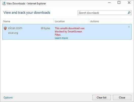 SmartScreen pode tomar o crédito para o busto, mas o Windows Defender fez o trabalho.