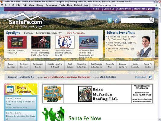 O relançamento da SantaFe.com como um website baseado em publicidade necessário um novo plano de negócios. [Cred